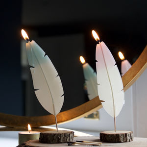 Symbolic Feather Candle - for those we miss