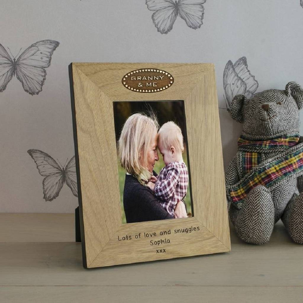 Grandma And Me Message Frame