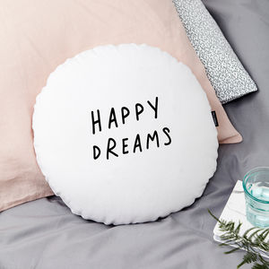 Happy Dreams Round Cushion - patterned cushions
