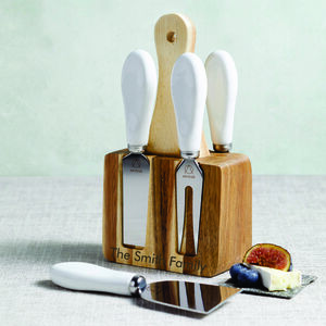 Personalised Cheese Knife Set