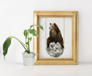 Moon Bear Print - pictures & prints for children