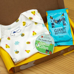 Baby Gift Box Bodysuit + Chocolate Buttons