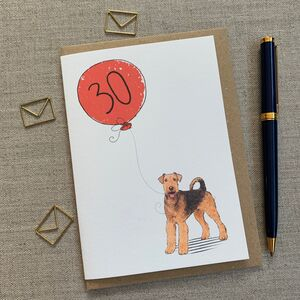 Personalised Airedale Terrier Birthday Card