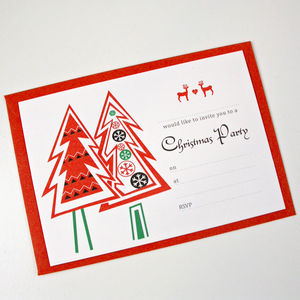 Christmas Tree Party Invitations - cards & wrap