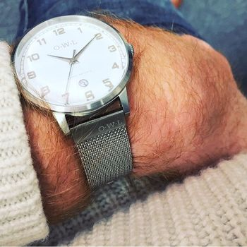 Gents Brancaster Watch With Stainless Steel Mesh Strap