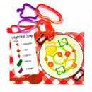 Vegetable Soup Play Mat With Dough Cutters
