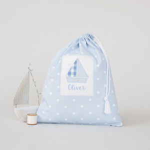 Personalised Spot Laundry Bag - laundry room
