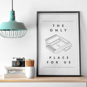 'Only Place For Us' Football Stadium Print - sports fan