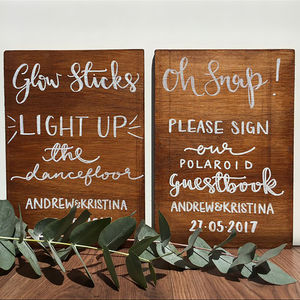 Personalised Wood Stained Sign