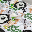 Personalised Football Table Runner
