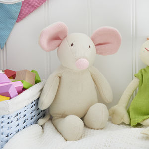 Knitted Mouse - soft toys & dolls