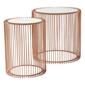 Set Of Copper Wire Side Tables - side tables