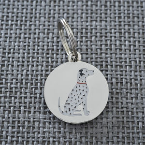 Dalmatian Dog ID Name Tag - winter sale