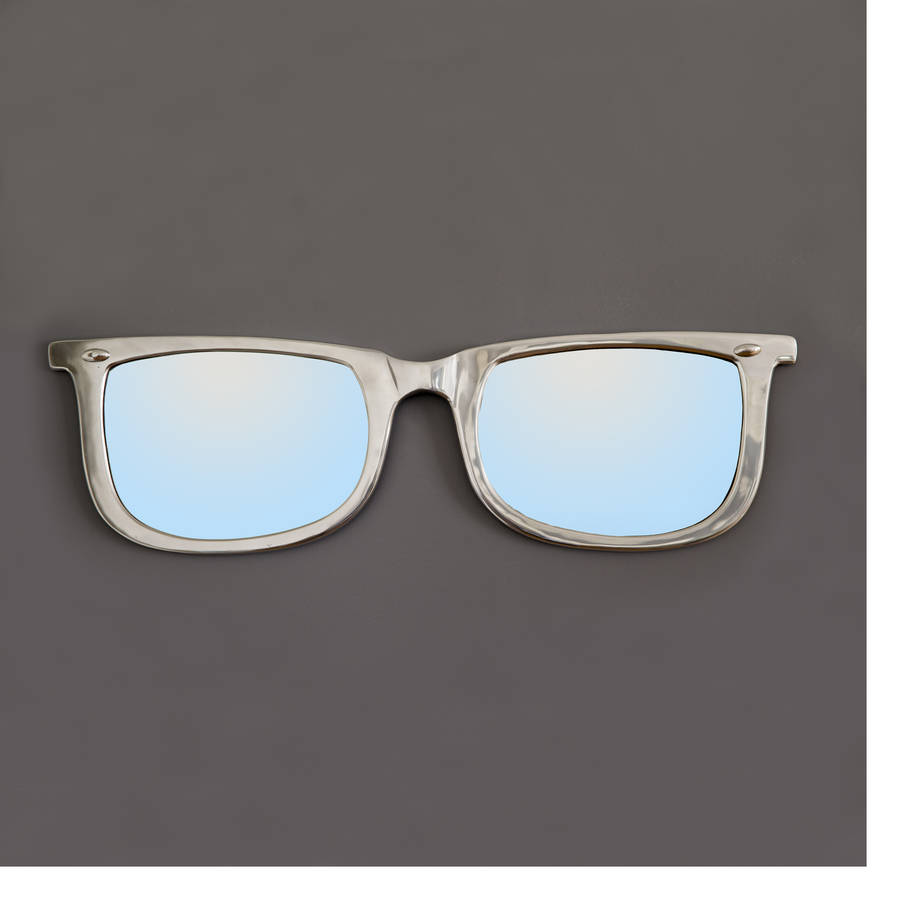 Quirky Eyeglass Frames : quirky chrome glasses mirror by decorative mirrors ...