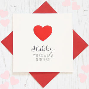 Personalised Red Foil 'Heart' Card