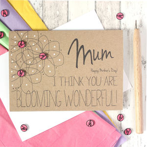 Personalised Mother's Day Card Blooming Wonderful - mother's day cards & wrap