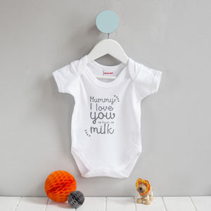 Mummy 'I Love You As Much As' Babygrow - babygrows