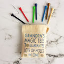 Personalised Bag Of Golf Tees