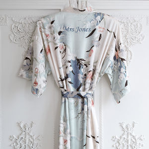 Personalised Bridal Blossom Dressing Gown