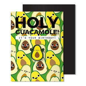 Magnetic Avocado Enamel Pin Badge Birthday Card