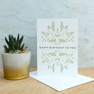 'Happy Birthday To You' Botanical Watercolour Card