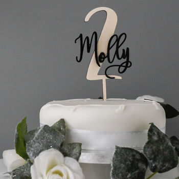 Personalised Baby's Child's Birthday Cake Topper