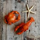 Crab And Lobster Nautical Ornaments