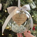 Personalised Bump's 1st Christmas Bauble