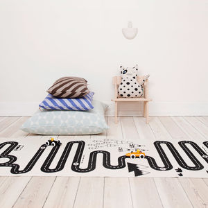 Hand Printed Cotton Adventure Rug - gifts for children