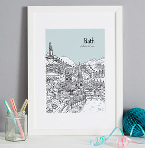 Personalised British City Print