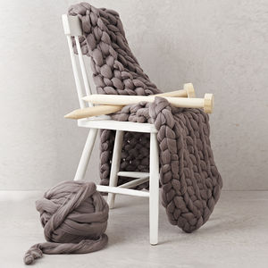 Diy Knit Kit Giant Chunky Blanket - lust list