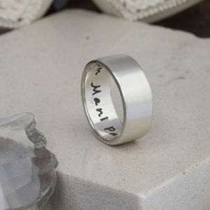 Personalised Pure And Simple 8mm Mens Ring