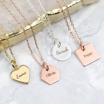 Personalised Charm Shape Necklace