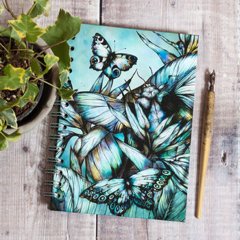 Tropical Beetle Botanical A5 Recycled Spiral Sketchbook