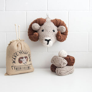 Make Your Own Faux Ram Knitting Kit - sewing & knitting