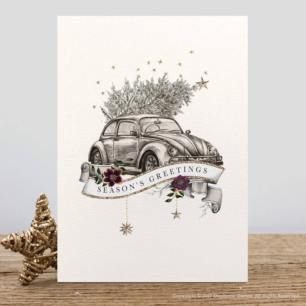 Pack Of Luxury Traditional Christmas Cards By Stephanie