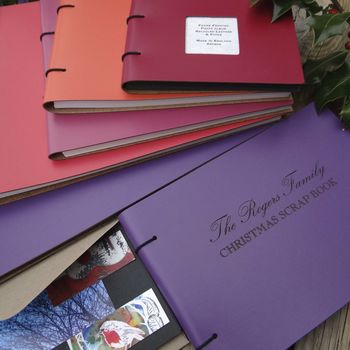 Personalised Leather Scrapbook