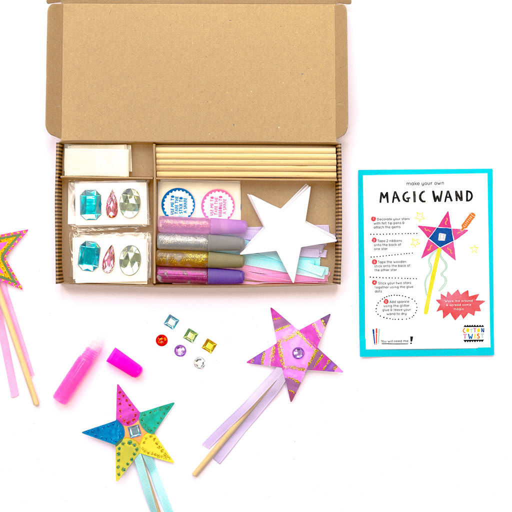 Magic wand craft party kit by cotton twist for Wand making kit