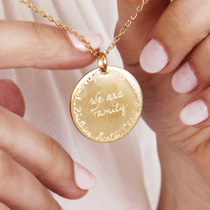 Personalised 'We Are Family' Necklace - gifts for her