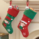 Personalised Elf Christmas Stocking