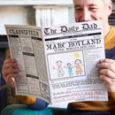 'The Daily Dad', Personalised Newspaper For Fathers