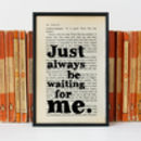 Peter Pan 'Waiting For Me' Romantic Quote Print