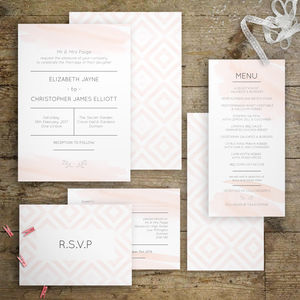 Global Watercolour Wedding Invitations - invitations