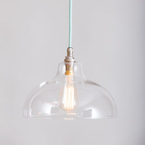 Nancy Clear Glass Factory Pendant Light - ceiling lights