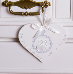 Personalised Engagement Hanging Keepsake - home accessories