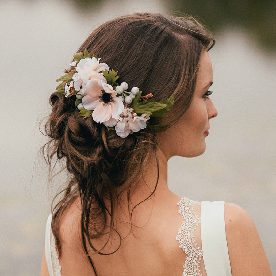 Real Flower Bridal Hair Accessories : Annabelle flower hair comb by gypsy rose vintage