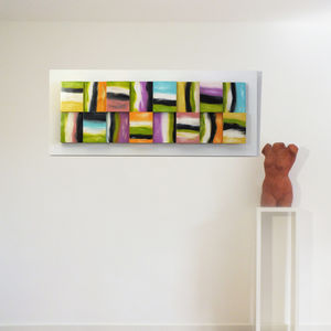 'Illusion' Abstract 3D Wood Block Art - canvas prints & art