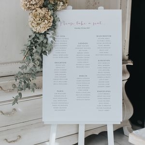 Love Story Table Plan - table decorations