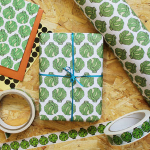 Luxury Brussel Sprout Christmas Gift Wrap - wrapping