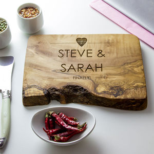Personalised Live Edge Cheese/Chopping Board - kitchen accessories